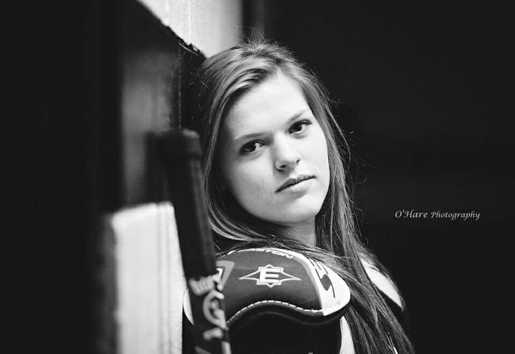 Senior girl hockey Port Huron Michigan O'Hare Photography