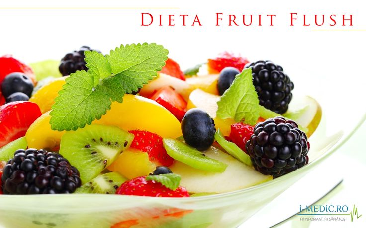 Dieta Fruit Flush, cunoscuta si sub denumirea simpla de dieta cu fructe, promite sa va ajute sa slabiti pana la 5 kilograme mancand aproape numai fructe -  http://www.i-medic.ro/diete/dieta-fruit-flush