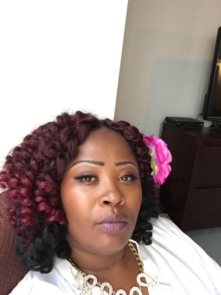 Burgundy Jamaican Bounce Crochet Hair Crochet Hair