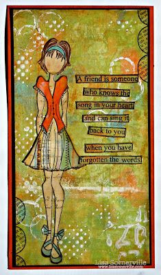 Designs by Lisa Somerville: Song in your Heart Hello friends! I was beginning to think I left my muse up at that lake last week while we were on vacation!  What better way to jump start creativity, than by creating a Mixed Media piece using the Gelli Arts Plate!