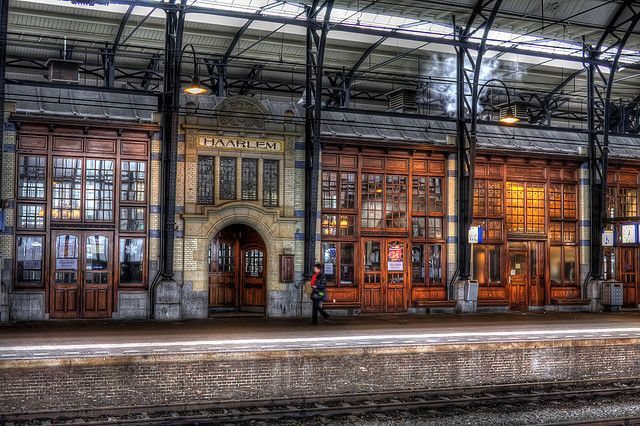 Haarlem, Netherlands. Trein station. During my teenage years I would ride my bike then take the train here from my grandma's house.