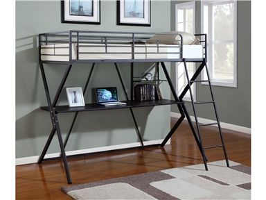 Shop for Coaster Workstation Twin Loft Bed and