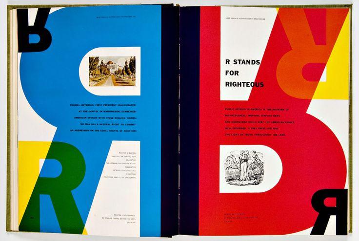 30 GLORIEUSES-E.U.  Bradbury thompson pour westvaco-1953-1955