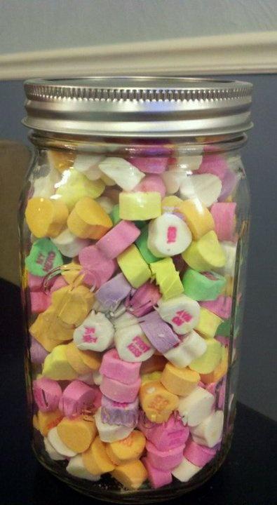 valentine's day jar pinterest