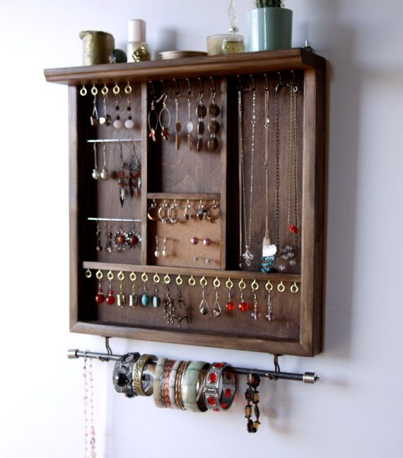 Jewelry organizer earrings display. necklace by FineArtHolders