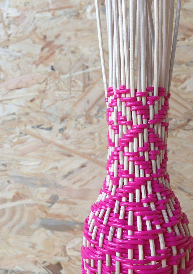 Tressage en cours / Hélène Lefeuvre #basketry #weaving #designtextile