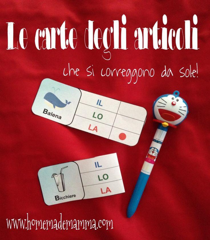 carte articoli determinativi italiano gioco e attività