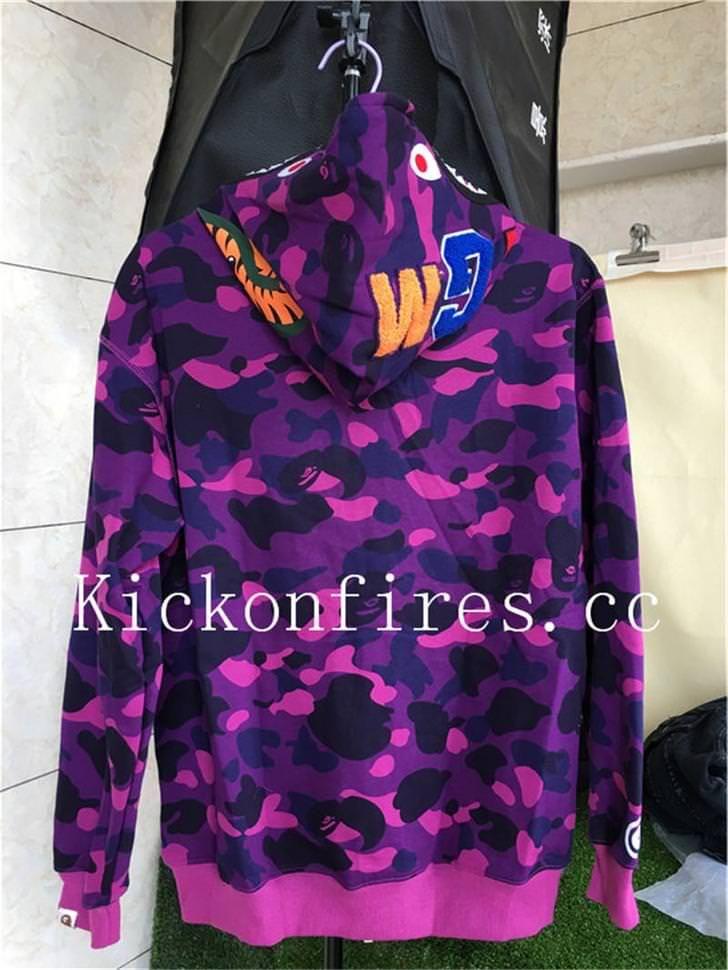 bf9da1344a55 A Bathing Ape Bape Shark Camo Purple Jacket