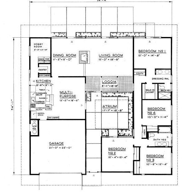 15 Best Images About Mid Century Floor Plans On Pinterest