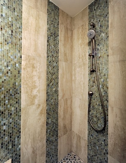 Mosaic Shower Tile Design, Pictures, Remodel, Decor and Ideas - page 3