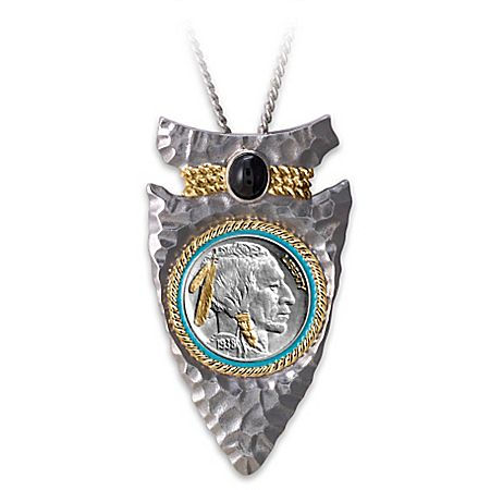 Mens pendant necklace 25 pinterest indian head nickel arrowhead pendant necklace mozeypictures Choice Image