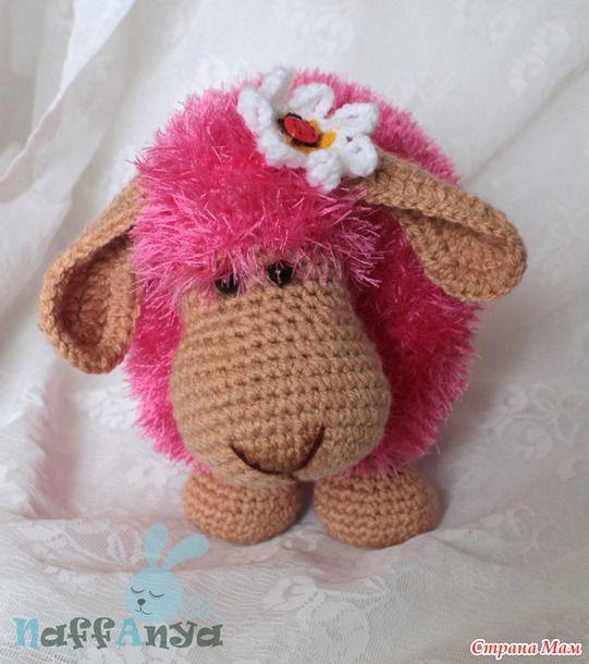 DIY Adorable #Knitted #Lamb #Pillow pink