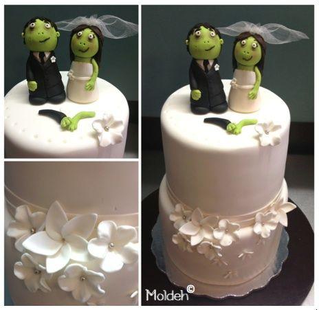 Pastel de Boda con tema de Zombies // Zombies themed wedding cake