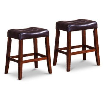 2 24 saddle back espresso bar stools - Amazon bedroom chairs and stools ...
