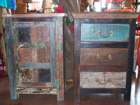 Rustic Bedroom Furniture | Rustic Style Print Block Vintage 3 Drawer Night  Stand | Cierra