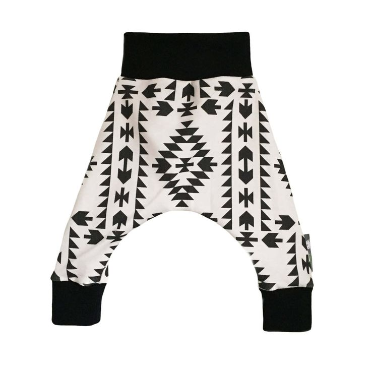 Baby HAREM Pants or RELAXED CUFF Trousers in Geometric Arrows Print - A Gift Idea for Modern Babies by bellaoski on Etsy
