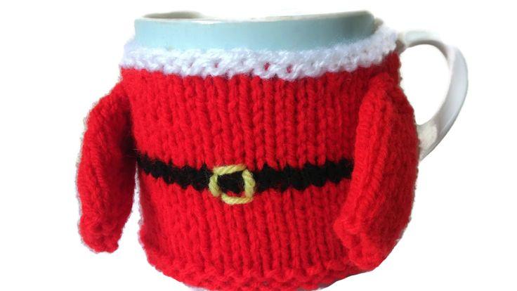 Santa Mug Cosy Christmas Sweater Mug Hug Knitted Gift by thekittensmittensuk on Etsy