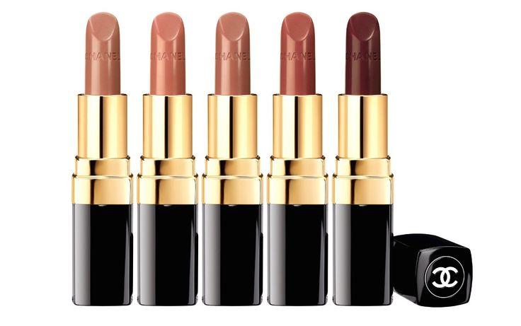 Chanel Rouge Coco: The Nudes (L-R) Nº400 Louise, Nº402 Adrienne, Nº404 Julia, Nº406 Antoinette & Nº408 Jeanne