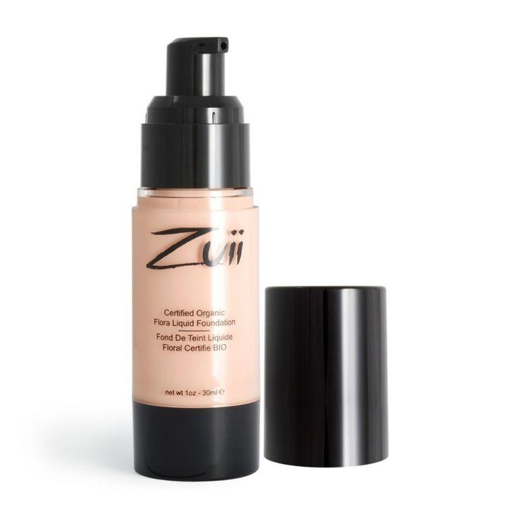 Ekologisk flytande foundation från Zuii Organic – Stort utbud av ekologiskt smink – Köp ekologisk makeup med snabb leverans hos Naturligt Snygg