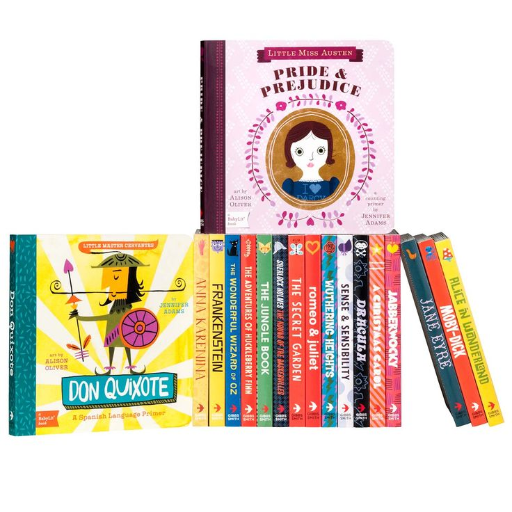 """""""Baby Lit Complete Set"""" from juniper books - board book versions of classic literature - I would like them all."""