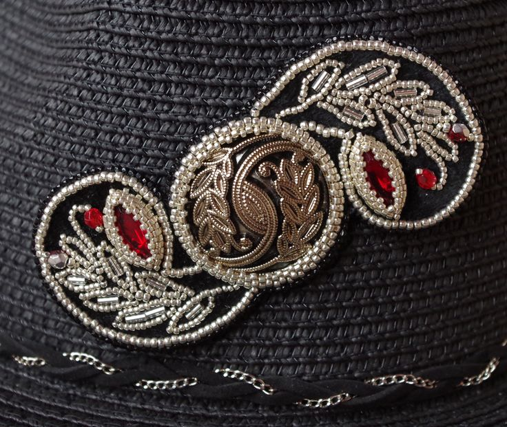 Брошь-кулон для шляпы - украшения из бисера…