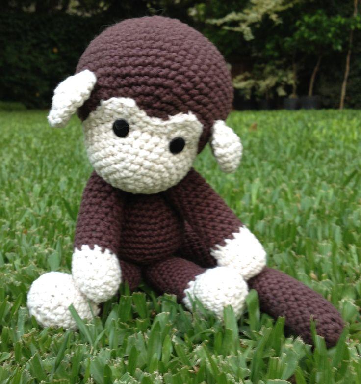 Encantador Del Patrón Del Mono De Ganchillo Inspiración - Manta de ...