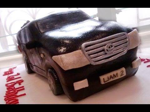 How to make a car cake (Toyota Land Cruiser) - YouTube