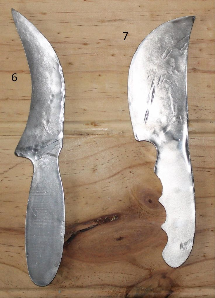 """first two """"from scratch"""" knives"""