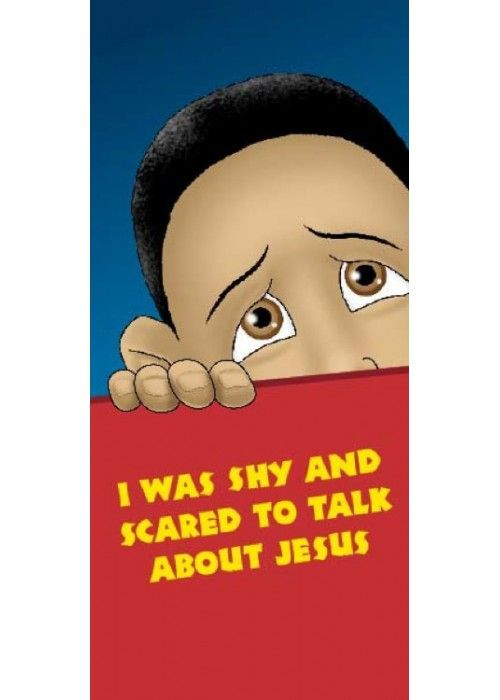 I was shy and scared to talk about Jesus - pamphlet for children. It is not always easy to talk about Jesus. Teach children how to testify for Jesus with confidence with this easily understandable and colourful pamphlet.