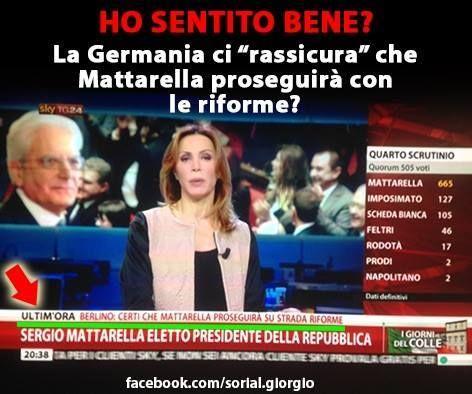il popolo del blog,: LA CANZONE DI MATTARELLA.... (avrebbero anche vota...