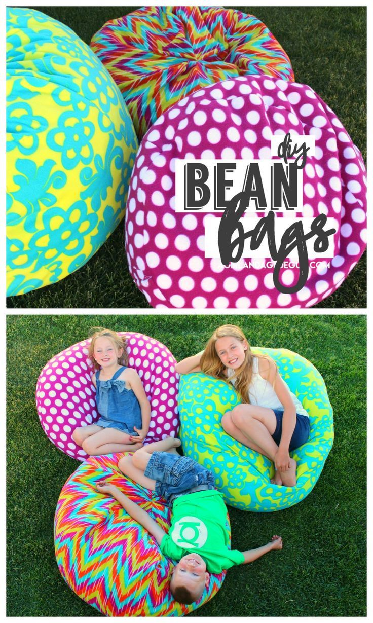 How to make a bean bag chair - A girl and a glue gun