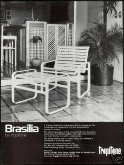 Tropitone Brasilia Chair Furniture Photo 1978 Vintage Patio