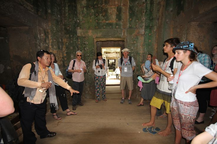 Impossible to get a history lesson of this magnitude from a computer! #VietnamSchoolTours #Cambodia #Angkor #SiemReap