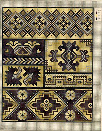Punto de cruz. Esquemas de diseños de bordado