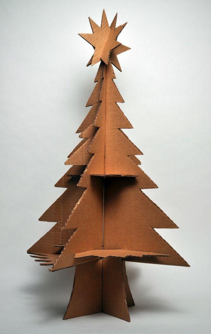 1001 id es cr atives comment fabriquer un arbre de noel - Sapin en carton a decorer ...