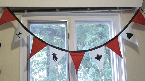 Canada Day pennant bunting.