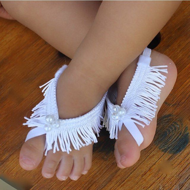 Perfect for spring #allbabygirls Barefoot Baby Sandals