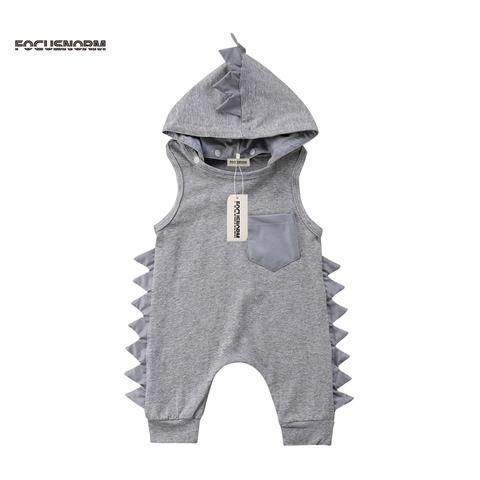 28d786c3c New Casual Print Dinosaur Kid Baby Girl Boy Romper Casual Jumpsuit Playsuit  Clothes Outfit Summer