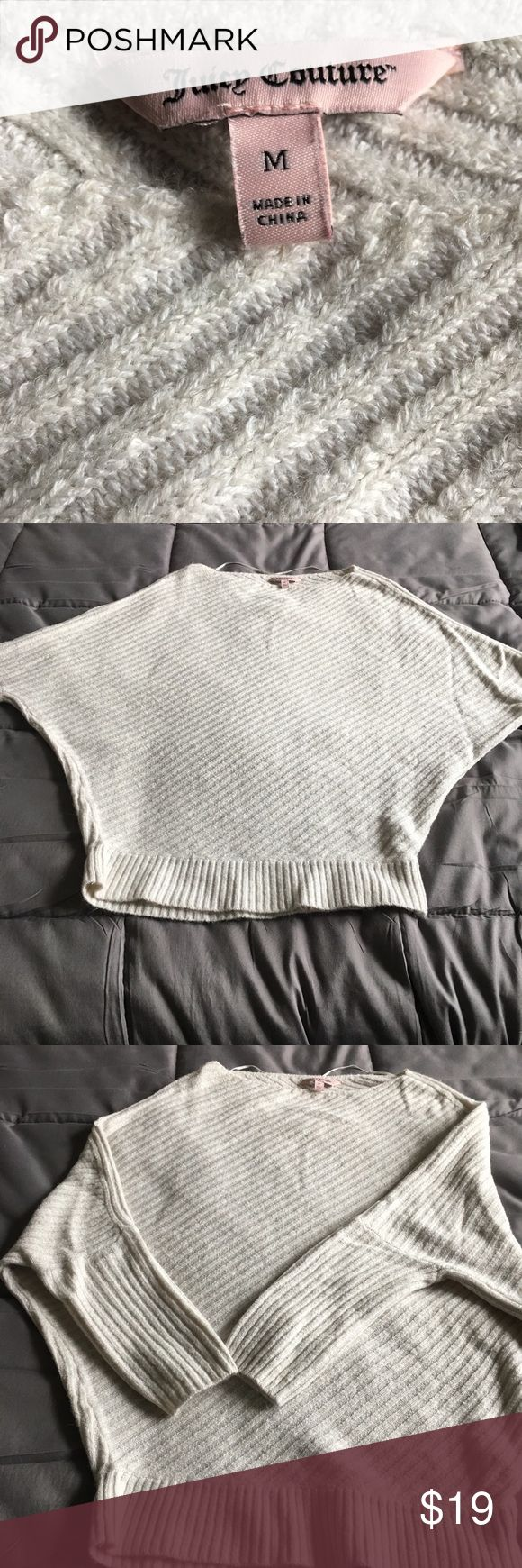 Batwing sweater Juicy couture batwing cream stripe sweater. Juicy Couture Tops Blouses