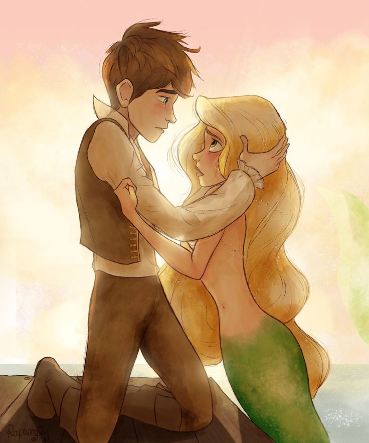 Jackunzel Mermaid AU. I usually don't like the mermaid ones but this is adorable.