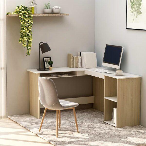Mulhouse Reversible L Shape Desk In 2020 Corner Desk Modern