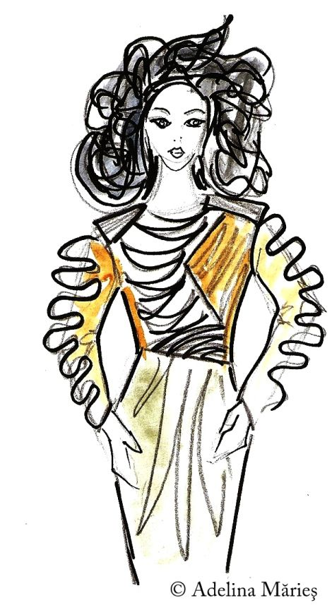 fashion sketch Adelina Maries