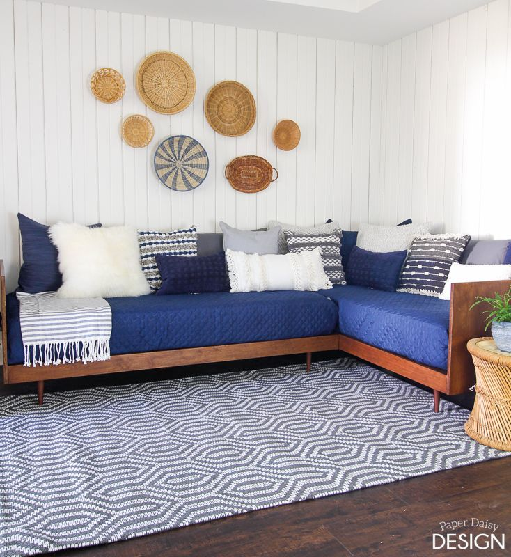 This easy to build, Mid-Century inspired daybed is the perfect way to create a cozy place to relax and welcome guests too! Find the free building plans, video tutorial and instructions below. We had an unused corner in our basement that was ideal for this type of set up, but of course, you can build just …
