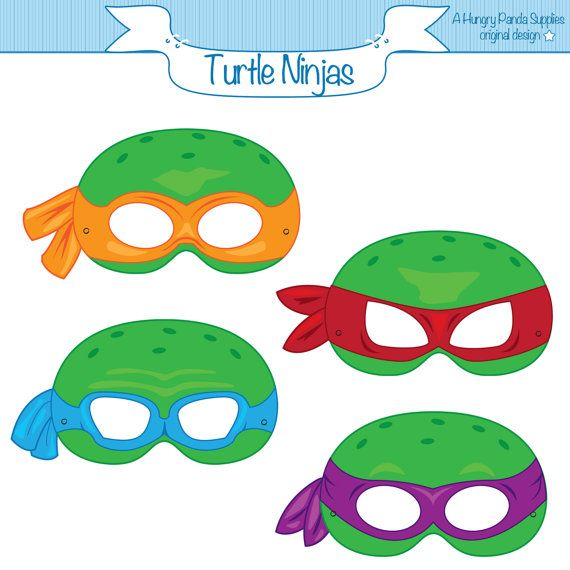 Turtles Ninja Masks Printable Masks turtle by HungryPandaSupplies, $4.00