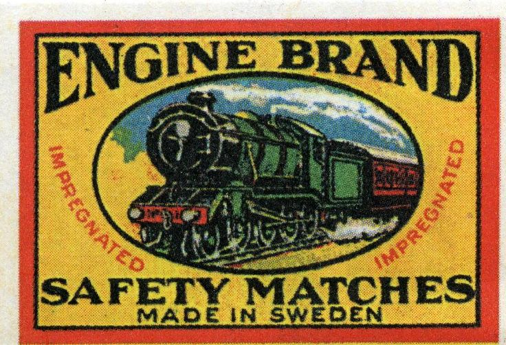 #engine #veturit #junat #Sweden #etiketit #labels #tulitikkuetiketit #train