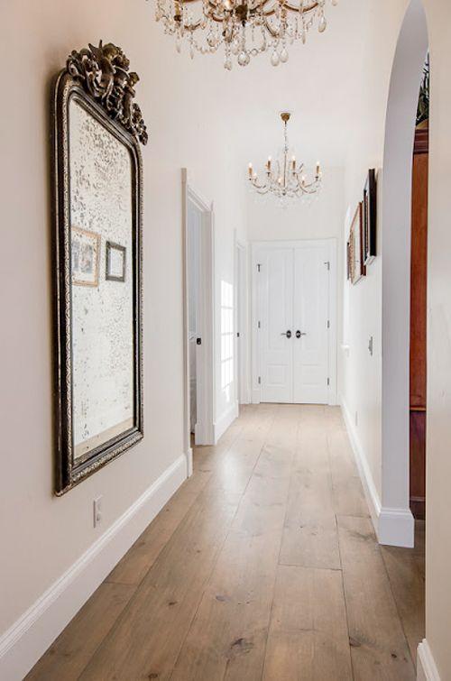 gorgeous floor, hall, mirror, chandeliers