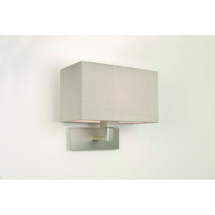 Astro 0678 Park Lane Grande Wall Light Matt Nickel With Shade