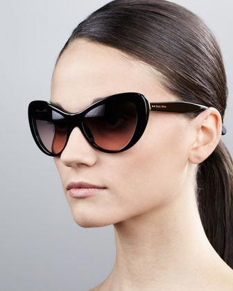 96bcc69e1a60 Rounded Cat-Eye Sunglasses