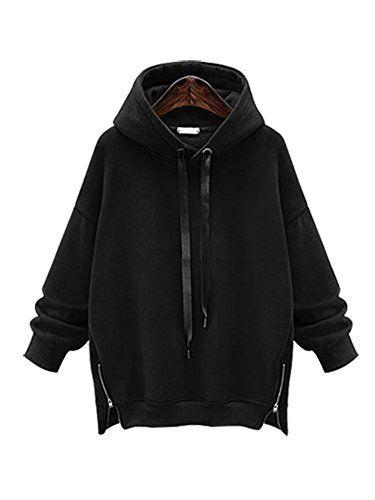 2d4bc4b4086 Gooket Women s Soft Fleece Hoodie Sweatshirt Jumper Hooded Pullover ...