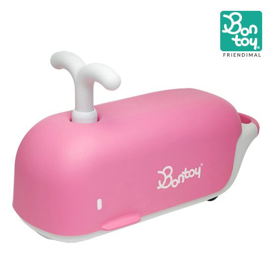 "BONTOY's ride-on toy, Friendimal features ""Soft, Quiet Rolling Wheels"" and this amazing toy can handle up to 200 lbs on smooth surface! #bontoy #rideontoy #soft #noiseless #smooth"
